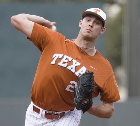 Taylor Jungmann UT Baseball Pitcher Taylor Jungmann has been practically unhittable