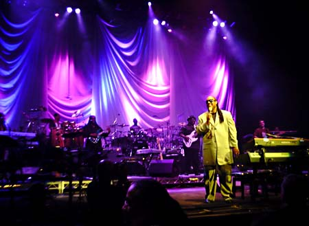 Full-time lover: Stevie Wonder at the Toyota Center, 12.4.2007