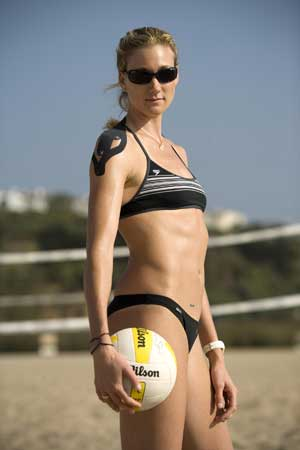 Olympic gold medalist Kerri Walsh, all taped up
