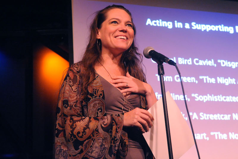 Acting In A Supporting Role Winner Amber Quick Accepting The Award For Her Performance In A Streetcar Named Desire Photo By John Anderson