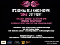 Dudes in Drag Shaking Drinks for a Good Cause