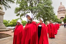 Activists Nod to <i>The Handmaid's Tale</i> to Protest Anti-Abortion Bills