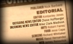 <i>Chronicle</i> News Editor Changing of the Guard