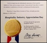 Texas Governor Says Hospitality Industry Worthy of Appreciation