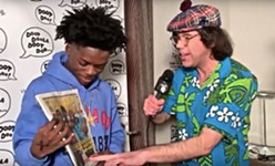 Nardwuar Gifts Quin NFN a Copy of the <i>Chronicle</i> in New Video