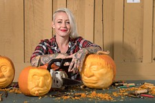Griffon Ramsey Carves Up the Food Network's <i>Outrageous Pumpkins</i>