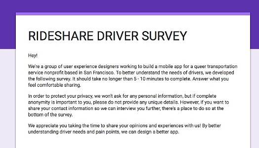Take a Survey for a More Queer-Friendly Rideshare Experience