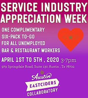 Free Eastciders for the Service Industry
