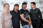 (l-r) Julie Delpy, Richard Linklater, Robert Rodriguez, and Ethan Hawke at last night's Before Midnight premiere. For more on the film, see our review.
