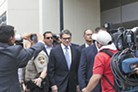 Gov. Rick Perry outside the Travis County courthouse last week