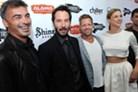 Chad Stahelski (l), Keanu Reeves, David Leitch and Adrianne Palicki