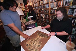 Roky Erickson signing at Waterloo Records on Record Store Day