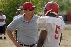 Kyle Chandler as Coach Taylor in the season four premiere, East of Dillon