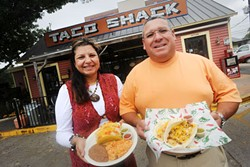 Yoli and Orlando Arriaga, owners of Taco Shack