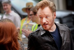 Conan O'Brien working the Paramount red carpet