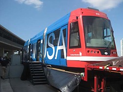 Last November, Austinites got a peek at one of the railcar models being considered for the urban rail proposal.