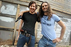 Shoot to Thrill: Black Pistol Fire's Kevin McKeown (l) and Eric Owen
