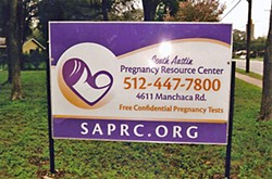 The South Austin Pregnancy Resource Center is one of several local operators suing the city on free-speech violations.