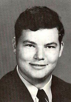 Christopher Cross' Alamo Heights High School yearbook photo, 1968