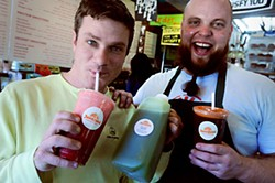 Matt Shook (l) and Bryce Spears of JuiceLand