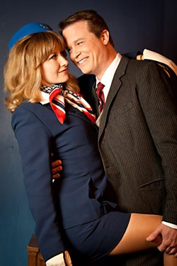 Talk about friendly skies: Bernard (David Stokey) has Jacqueline (Hildreth England) in a locked and upright position