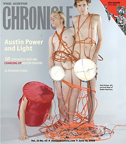 Exposed: Matt Hislope and Josh Meyer on the <i>Chronicle </i>cover in 2007