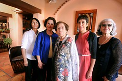 Matt's El Rancho owners (l-r) Cecilia Muela, Gloria Reyna, Janie G. Martinez, Cathy Martinez Kreitz, and Estella Martinez