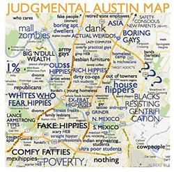 A detail of Albert Bui's Judgmental Austin Map