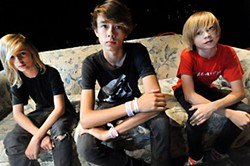 Residual Kid: (l-r) Max, Deven, and Ben