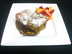 Crème brûlée French toast patty melt
