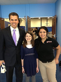 State Rep. Mark Strama with the divine Ava McDonald and KIPP success story Marisela Bueno