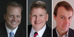 House District 136: (l-r): Matt Stillwell (D), Tony Dale (R), Matt Whittington (L)