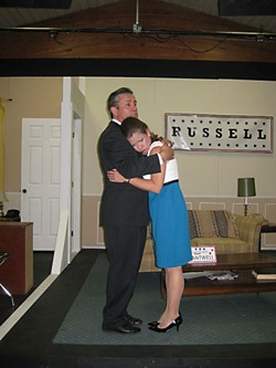Campaign pain: Candidate Joe Cantwell (Peter Blackwell) comforts his wife Mabel (Peggy Schott).