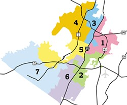 New AISD District Boundary Map