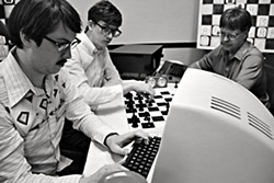 Man meets machine, castles the rook in Andrew Bujalski's new existential comedy, <i>Computer Chess.</i>