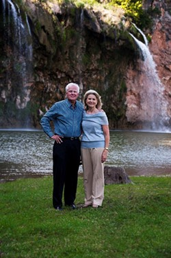 Ed and Susan Auler by the falls
