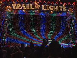 Another reappearance on the scene this year is the Trail of Lights, darkened last year due to economic issues.
