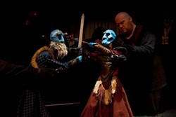 Dueling puppets: Zac Crofford in <i>Toil and Trouble</i>