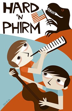 Tour poster for musical comedy duo Hard 'n Phirm