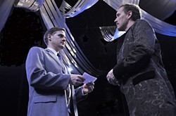 Vienna waits for you: Jeremy Lee Cudd as Angelo and Greg Holt as the Duke