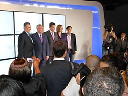 Google Gaggle: VP for Google Access Services Milo Medin, Mayor Lee Leffingwell, Gov. Rick Perry, Council Member Laura Morrison, and Google GM for Fiber Kevin Lo