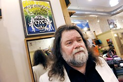 Roky Erickson under Patagonia's sole Vulcan Gas Company relic