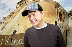 Next generation country maverick Jason Boland and the Texas Top Hands bus in 2009