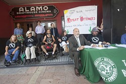 The Texas Civil Rights Project and members of Austin's disability community announce the filing of a series of lawsuits for violations of disability law to mark the anniversary of the Americans with Disabilities Act.