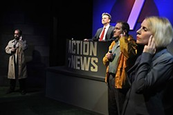 Action News team inaction: (l-r) Michael Ferstenfeld, Ken Webster, Benjamin Summers, Molly Karrasch