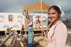 Linda Jean Martin, one of the volunteers with Mennonite Disaster Service working on Lisa Nolan's new home, the construction of which was coordinated by the Bastrop County Long Term Recovery Team. She and fellow MDS members David Roth, Becky Horning, Jim and Gene Stutzman and crew leader Henry Janzen, are confident they will finish Nolan's house by the new year.