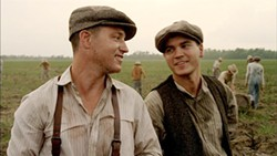Lane Garrison (l) with Emile Hirsch in <i>Bonnie &amp; Clyde</i>