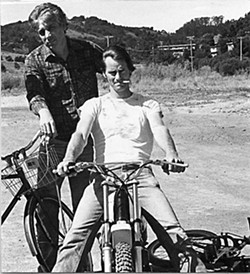 Johnny Dark (l) and Sam Shepard, Mill Valley, Calif., 1982