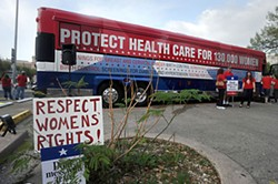 From a Women's Health Express rally, 2012