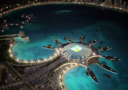 No, it won't look anything like this WC stadium being planned for Doha, Qatar.